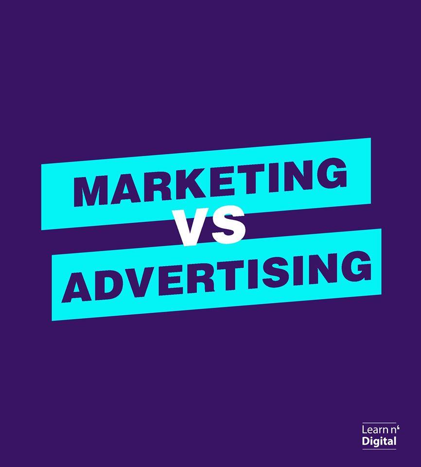 Marketing vs Advertising