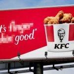 KFC Slogan blurred