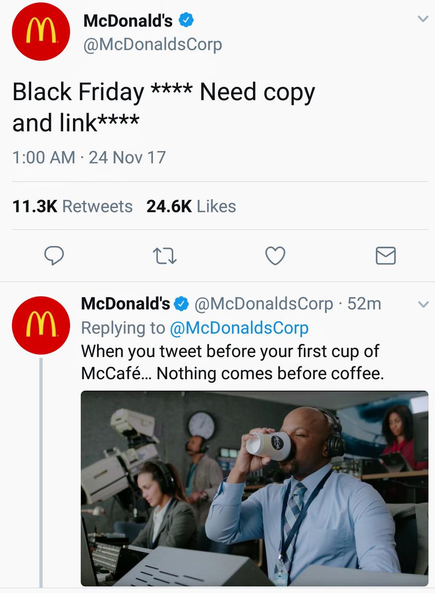 Mcdonald's black Friday answer